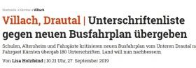 [27.09.2019 - Kleine Zeitung]