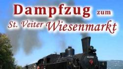 Wiesenmarkt: Dampfzug am 1. Oktober